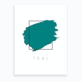 Teal Color Box Art Print