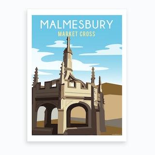 Malmesbury Market Cross Art Print