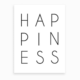 Happiness Art Print