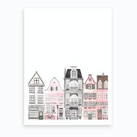 Amsterdam Houses Art Print