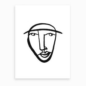 Faces 8 Art Print