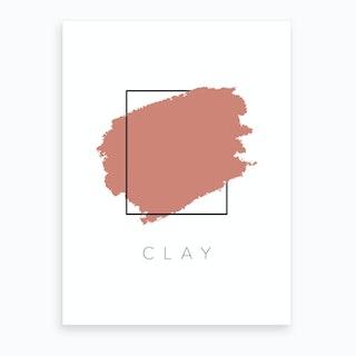 Clay Color Box Art Print