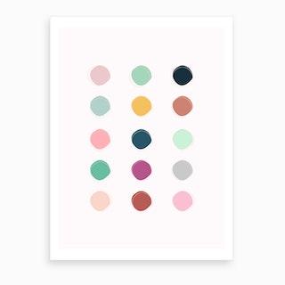 Colour Palette Art Print