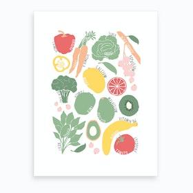 Eat More Fruit And Veggies Art Print