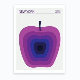 New York State Apple Art Print