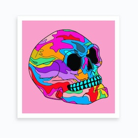 Painted Skull Art Print