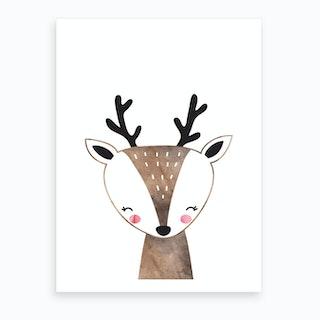 Brown Deer Art Print