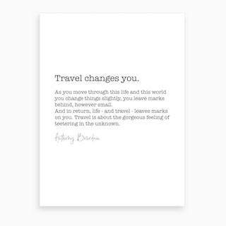 Travel Quote Art Print