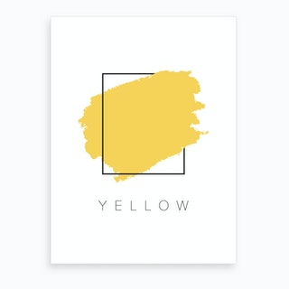 Yellow Color Box Art Print