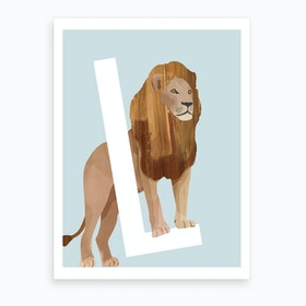 L Lion Art Print