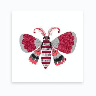 Butterfly Grey 2 Art Print