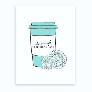 Diamonds For Breakfast Coffee Art Print