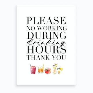 No Drinking Art Print