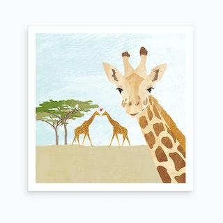 Giraffes In Africa Art Print