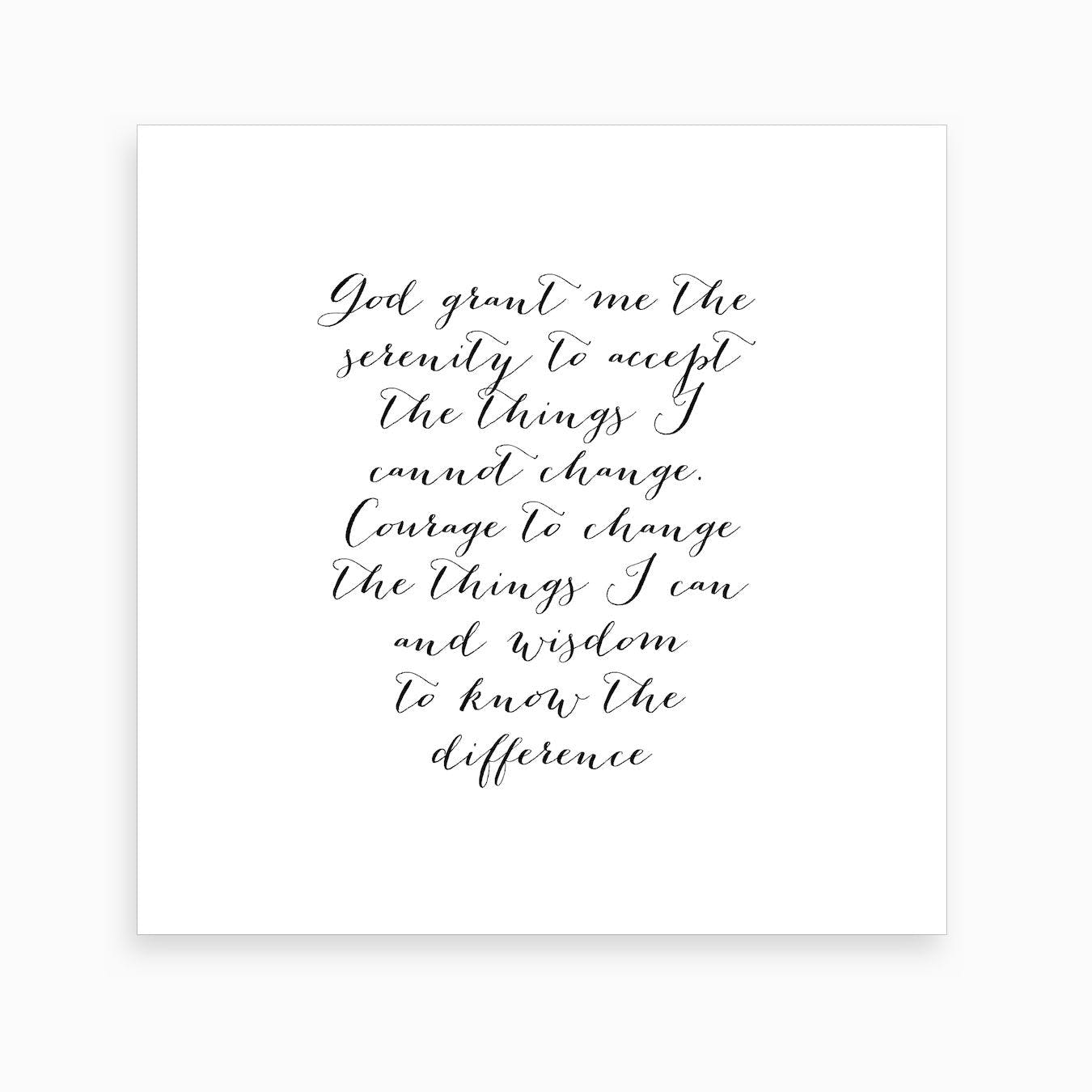 It's just an image of Printable Serenity Prayer throughout white