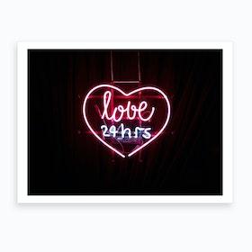 Love Neon Art Print
