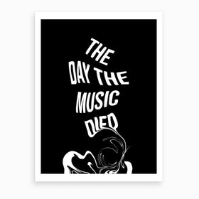 Day The Music Died Art Print