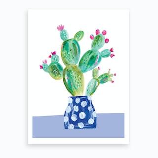 Painted Prickly Pear Art Print