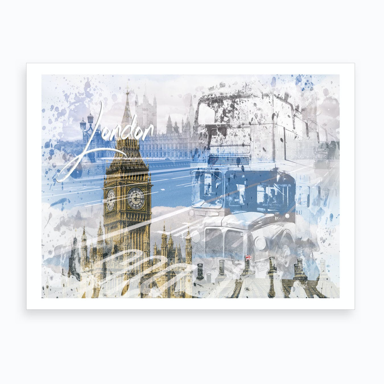 City Art Westminster Collage Art Print