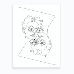 I See Flowers  Art Print