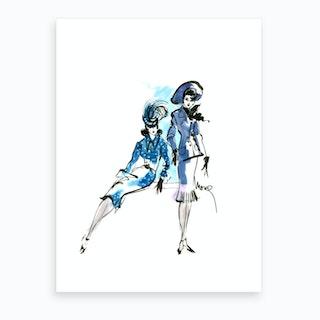Bluesuits Art Print
