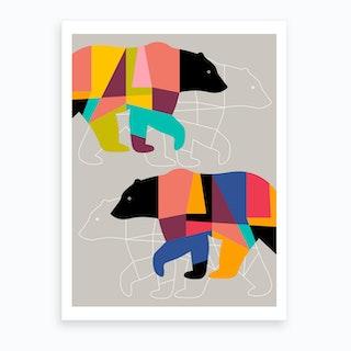 Twin Bears Art Print