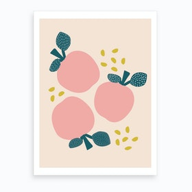 Pink Apples Art Print