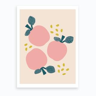 Pink Apples Art Print