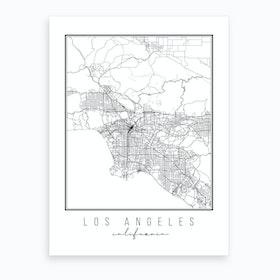 Los Angeles California Street Map Art Print
