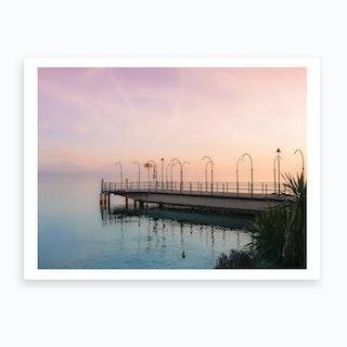 Along Geneva Lake At Sunset Art Print
