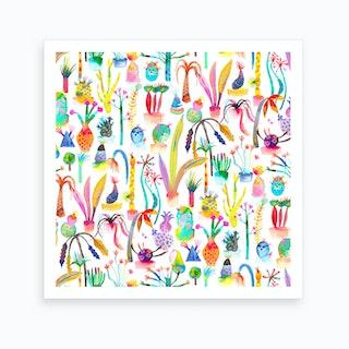 Lush Garden Square Art Print