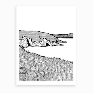 Aberdaron Cliffs Art Print