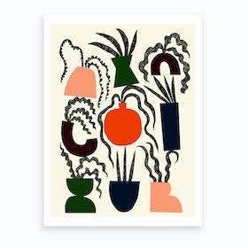Wavy Plants Art Print
