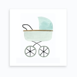 Nursery   Welcome Baby Pram Art Print
