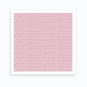 Artsy Dots Pink Square Art Print