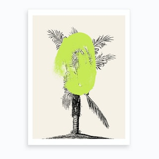 Tropical Tree Green Art Print
