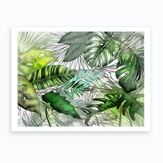 Tropical Foliage 2 Art Print