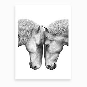 Horses Love Art Print