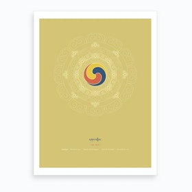 Gankyil Wheel Of Joy Art Print