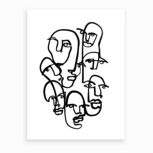 Face Merge 2 Art Print