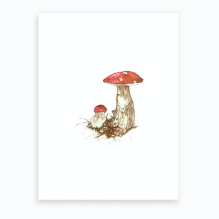 Miniature Toadstool 2 Art Print