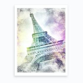 Paris Watercolor Eiffel Tower Art Print