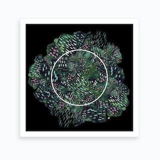 Foliage Collage Art Print