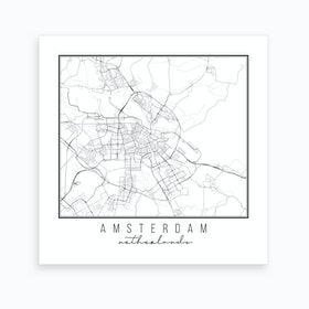 Amsterdam Netherlands Street Map Art Print