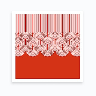 Red Geometry .1 Art Print