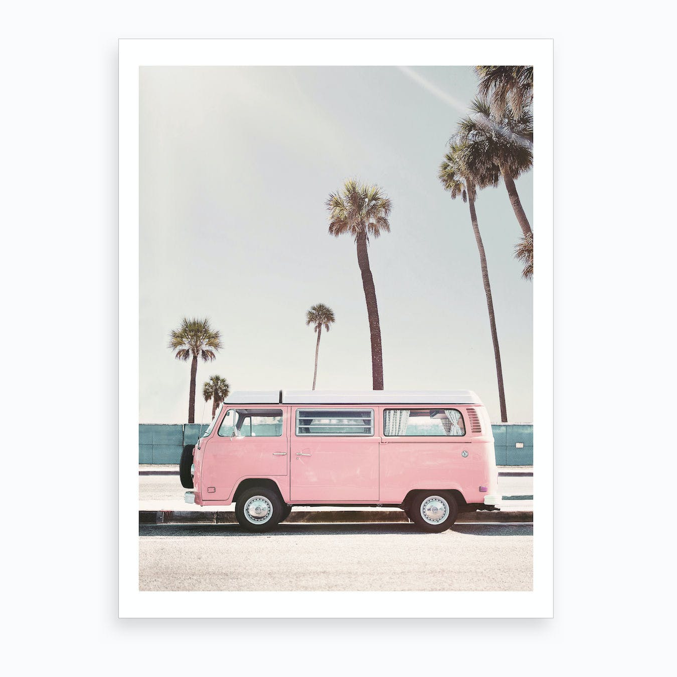 Pink Van Art Print