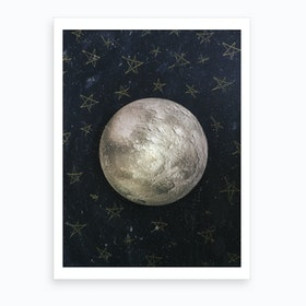 Moon And Stars Art Print