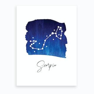 Scorpio Zodiac Art Print