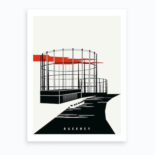 Hackney London Art Print