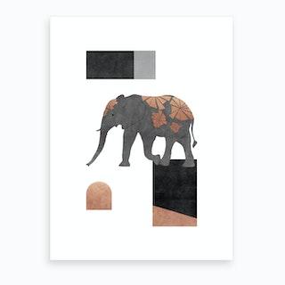 Elephant Mosaic Ii Art Print